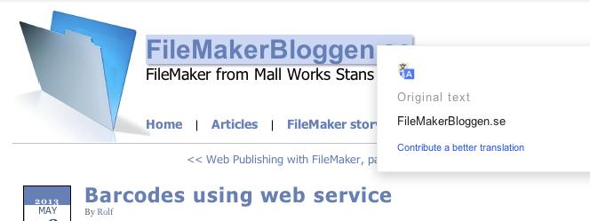 FileMakerBloggen.se   Streckkoder med web service