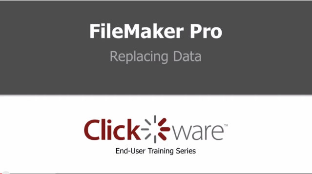 FIleMaker Pro – Replacing Data  – YouTube