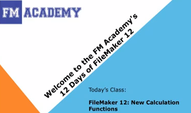 FileMaker 12 New Calculation Functions – 12 Days of FileMaker 12 – YouTube