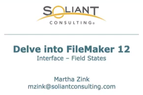 Delve into FileMaker 12 Interface – Object States (Fields) – YouTube