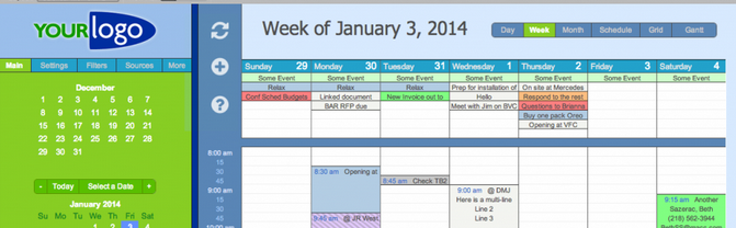 Seedcode Calendar example