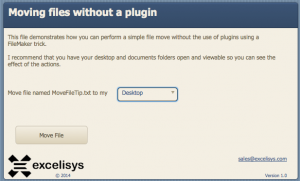 FileMaker Pro Tips and Tricks: Moving Files Without a PlugIn