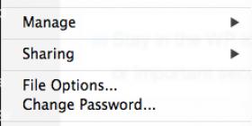 FileMaker File menu screenshot