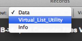 Virtual List Menu item
