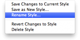 Style Menu photo in FileMaker 13