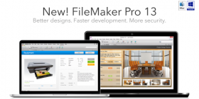 Picture of computers running FileMaker 13