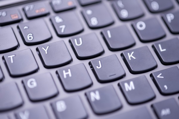 computer keyboard pictured with a narrow depth of field
