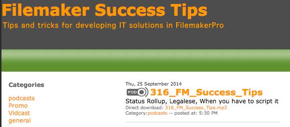 FileMaker Success Tips 316