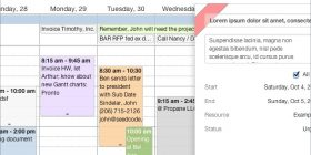 Example of the new web calendar layout