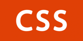 Orange square with CSS letters