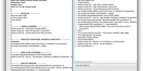 Readable script example