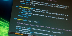 Example of programming code