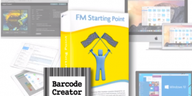 Barcode Creator logo combined with FM Starting Point logo