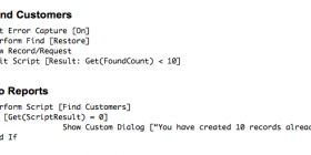 Examples of script result coding