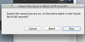 Export example of batch ics files