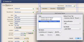 Example of Dynamic tab labels