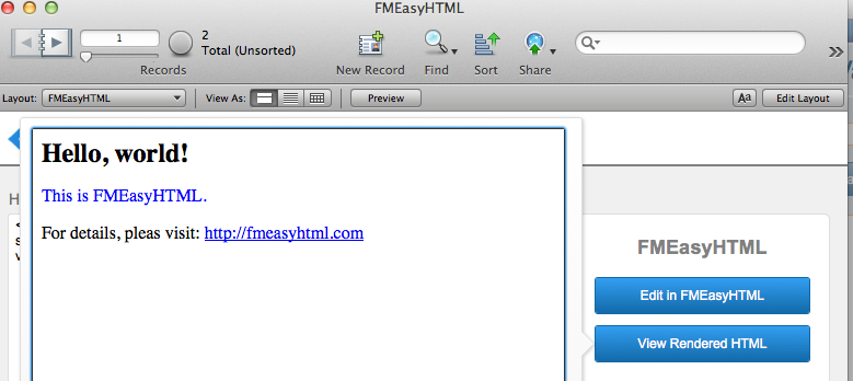Screen shot of Easy HTML