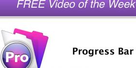Progress bar announcement