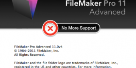 No More Support for FileMaker 11 Product Family next year