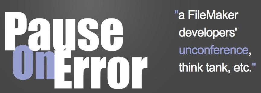 Pause on error logo