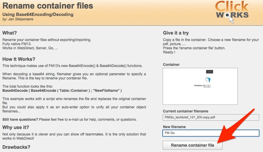 Example of container file ready to be renamed