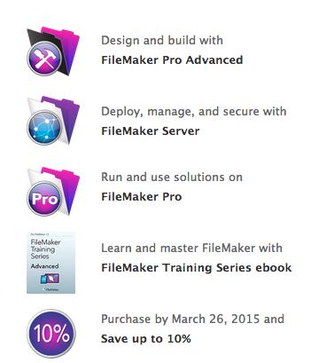 10% off FileMaker Promotion Bundle