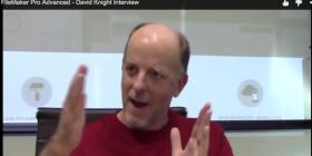 David Knight waving his hands