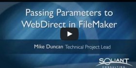Extending webdirect by passing parameters
