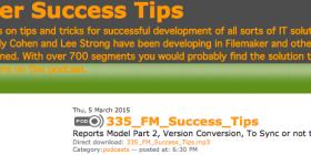 Filemaker Success Tips 335