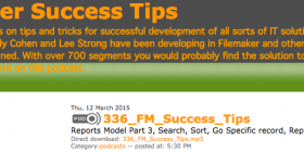 Filemaker Success Tips 336