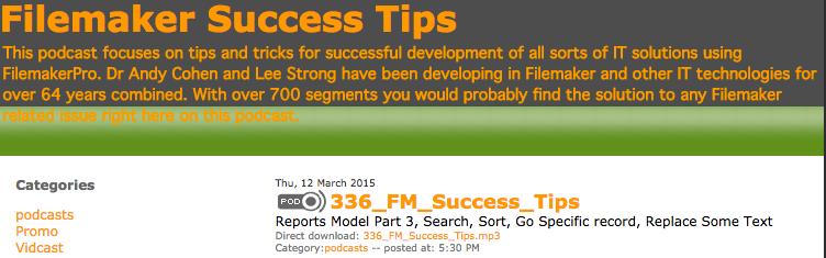 Filemaker Success Tips 336