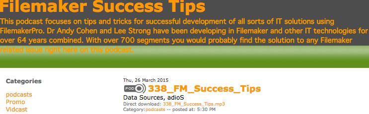Filemaker Success Tips 338