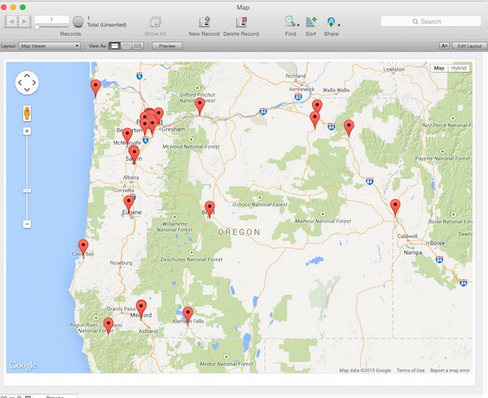 Free Geocoding and Mapping Module for FileMaker