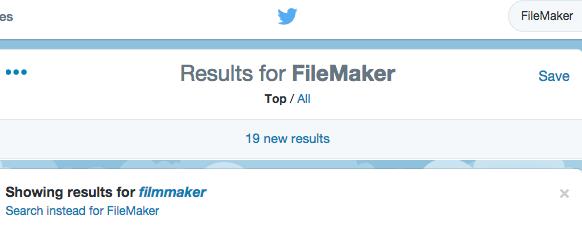 FileMaker 14 Tweets