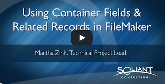 Container Fields in Related Records–FileMaker YouTube