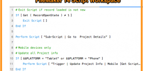 FileMaker 14 Script Workspace