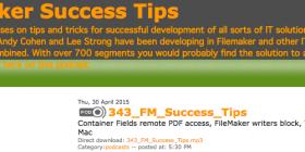 FileMaker Success Tips 343