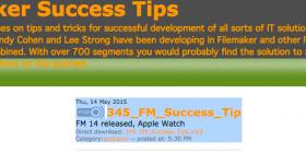 Filemaker Success Tips 345