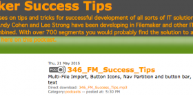 FileMaker Success Tips 346