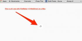 FileMaker WebDirect problem