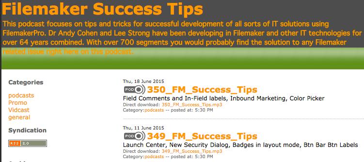 FileMaker Success Tips
