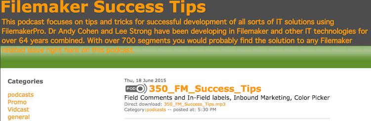FileMaker Success Tips 350