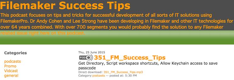 FileMaker Success Tips 351