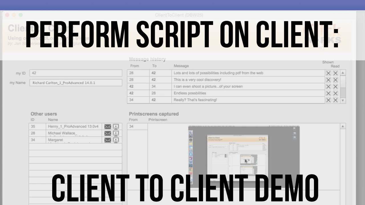 Perform Script on Client