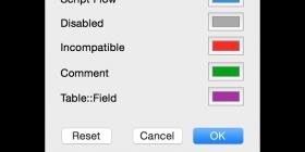 FileMaker 14 Color Panel