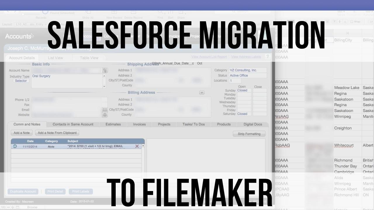 SalesForce Migration to FileMaker