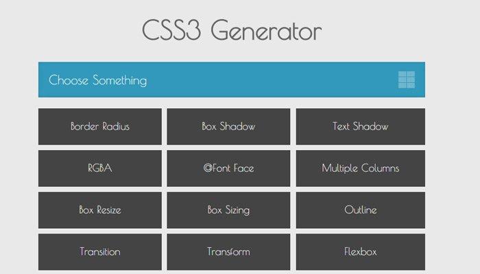 CSS3 Code Generators
