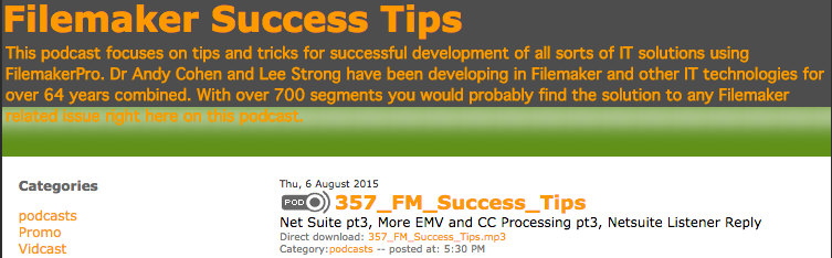 Filemaker Success Tips 357