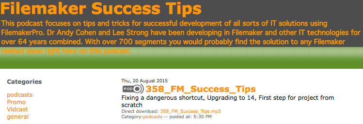 Filemaker Success Tips 358