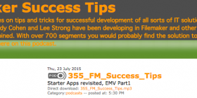 Filemaker Success Tips 355 and 356